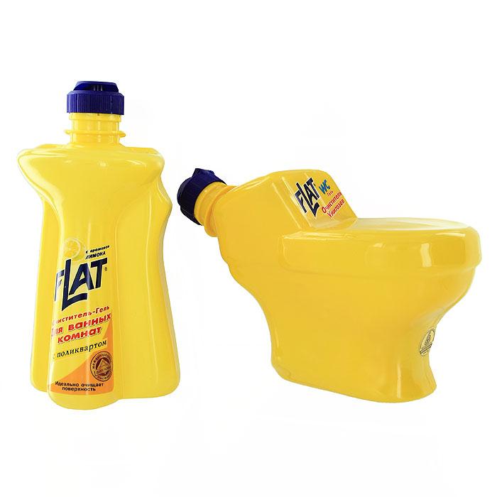 Набор Flat: очиститель унитазов, очиститель-гель для ванных комнат, с ароматом лимона4600296001383Набор Flat включает: очиститель унитазов и очиститель-гель для ванных комнат. Очиститель для унитазов, фаянсовых раковин, никелированных изделий и кафеля. Удаляет ржавчину, устойчивые загрязнения, отложения мочевого и известкового камней. Обладает антимикробным действием. Устраняет неприятный запах. Имеет густую консистенцию. Не стекает с наклонных поверхностей. Специальная вставка-дозатор под крышкой позволяет использовать средство на труднодоступных поверхностях унитаза. Очиститель-гель для ванных комнат - мощное чистящее средство с натуральными маслами для устранения известкового налета, мыльных осадков и других загрязнений ванн, раковин, унитазов. Не повреждает очищаемую поверхность. Введенный в состав поликварт образует невидимую пленку, защищающую от загрязнений и позволяющую быстро высушивать поверхность. Вязкая консистенция позволяет использовать очиститель на неровных и труднодоступных поверхностях и расходовать экономно. Регулярное применение средства...