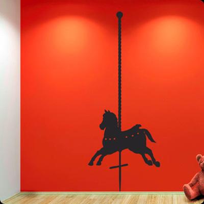 Стикер Paristic Деревянная лошадка, влево, 180 х 70 см701Добавьте оригинальность вашему интерьеру с помощью необычного стикера Деревянная лошадка. Изображение на стикере выполнено в виде лошадки, которую можно встретить на любимом всеми детском аттракционе карусель. Необыкновенный всплеск эмоций в дизайнерском решении создаст утонченную и изысканную атмосферу не только спальни, гостиной или детской комнаты, но и даже офиса. Стикер выполнен из матового винила - тонкого эластичного материала, который хорошо прилегает к любым гладким и чистым поверхностям, легко моется и держится до семи лет, не оставляя следов. Сегодня виниловые наклейки пользуются большой популярностью среди декораторов по всему миру, а на российском рынке товаров для декорирования интерьеров - являются новинкой.