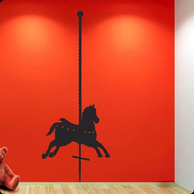 Стикер Paristic Деревянная лошадка, вправо, 180 х 70 см702Добавьте оригинальность вашему интерьеру с помощью необычного стикера Деревянная лошадка. Изображение на стикере выполнено в виде лошадки, которую можно встретить на любимом всеми детском аттракционе карусель. Необыкновенный всплеск эмоций в дизайнерском решении создаст утонченную и изысканную атмосферу не только спальни, гостиной или детской комнаты, но и даже офиса. Стикер выполнен из матового винила - тонкого эластичного материала, который хорошо прилегает к любым гладким и чистым поверхностям, легко моется и держится до семи лет, не оставляя следов. Сегодня виниловые наклейки пользуются большой популярностью среди декораторов по всему миру, а на российском рынке товаров для декорирования интерьеров - являются новинкой.
