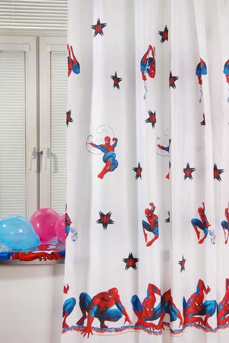 Портьера TAC Spider-Man, цвет: белый, 200 х 265 смGS0442Портьера TAC Spider-Man изготовлена из плотного полиэстера белого цвета и шита на универсальной шторной ленте. Портьера TAC Spider-Man осуществит заветную мечту вашего ребенка окунуться в волшебный мир сказок, а любимые персонажи создадут атмосферу уюта для вашего малыша. Полиэстер - вид ткани, состоящий из полиэфирных волокон. Ткани из полиэстера - легкие, прочные и износостойкие. Такие изделия не требуют специального ухода, не пылятся и почти не мнутся. Характеристики: Материал: 100% полиэстер. Цвет: белый. Размер (Ш х В): 200 см х 265 см. Изготовитель: Россия. Артикул: GS0442.