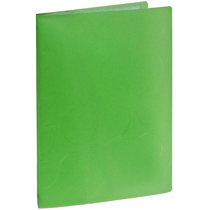 """Panta Plast Папка с файлами """"Omega"""", 20 листов, цвет: зеленый 0410-0032-04"""