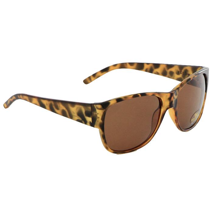 Солнцезащитные очки Pro Vision, женские, цвет: коричневый DC10505BDC10505BСолнцезащитные поляризационные женские очки Pro Vision - это произведение искусства, которое имеет полезное практическое применение в жизни. Не стоит обращать внимание только на внешний вид очков, следует пристально присмотреться к их главной характеристике - степени защиты от солнечных лучей. Именно от этого показателя зависит здоровье ваших глаз. Основные особенности очков Pro Vision: Не пропускают ультрафиолетовое излучение, которое крайне вредно для глаз; Способствуют улучшению цветоразличения даже в неспокойную погоду; Повышают контрастность зрения. Надев эти очки, вы сможете четко видеть пространство впереди себя. Оправа очков легкая и не создает никакого дискомфорта. Цвет линз - коричневый, оправа - коричневая с черными пятнами.