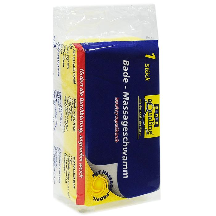 Губка массажная Aqualine для тела, цвет: белый, желтый1082Губка Aqualine предназначена для ухода за телом. Она имеет два слоя: гладкий и мягкий слой и слой с рифленой поверхностью. Первый слой обеспечивает нежный уход за телом, а второй создает приятный массажный эффект, который обеспечивает лучшую циркуляцию крови.