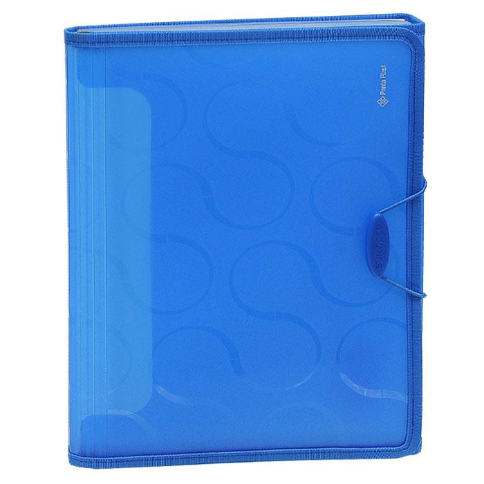 """Panta Plast Папка """"Omega"""", 6 отделений, на резинке, цвет: синий 0410-0041-03"""