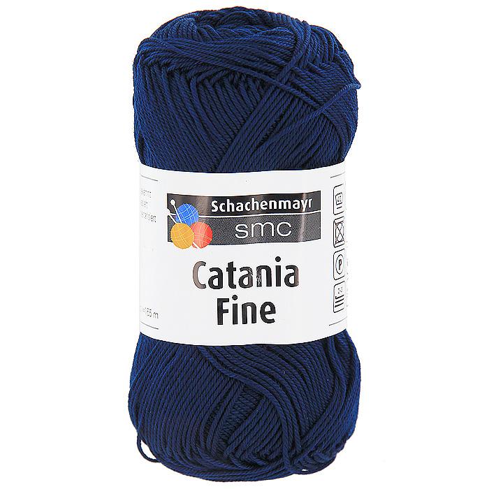 Пряжа для вязания Catania Fine, цвет: темно-синий (01013)9807300 - 01013Пряжа для вязания Catania Fine изготовлена из высококачественного натурального мерсеризованного хлопка. Хлопок - пряжа растительного происхождения, получаемая из коробочек хлопчатника. Преимущества хлопковой пряжи: Гигиеничность. Носкость. Устойчивость к щелочам (моющим средствам). Устойчивость к истиранию и разрыву. Отлично пропускает воздух и впитывает влагу. Изделия из хлопковой пряжи легко стираются и сохраняют свой первоначальный внешний вид. Хлопковая пряжа плотная, не эластичная, ею рекомендуется вязать ажур или сплошное полотно. Пряжа Catania Fine с гладкой фактурой и привлекательным блеском отлично подойдет для создания оригинальных летних вещей. В настоящее время вязание плотно вошло в нашу жизнь, причем не столько в виде привычных свитеров, сколько в виде оригинальных, изящных моделей из самой разнообразной пряжи. Поэтому так важно подобрать именно ту пряжу, которая позволит вам...