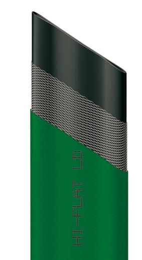 Шланг Hi-Flat LD, плоский, цвет: зеленый, 35 мм x 50 м3717388Плоский непрозрачный шланг Hi-Flat LD зеленого цвета изготовлен из ПВХ и армирован капроновой нитью. Шланг предназначен для транспортировки непищевой воды под давлением до 4 бар. Обладает высокой прочностью. Рабочая температура от -10°С до +50°С.