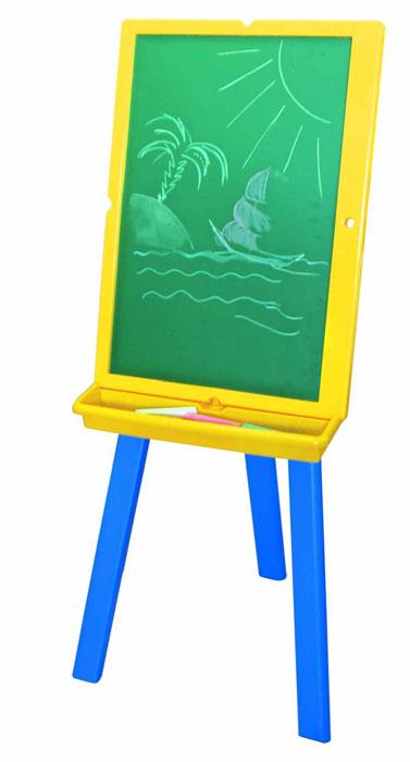 Доска двусторонняя Kids, 60 см x 43 смIWB-630Двустороняя доска для рисования Kids на треноге станет настоящим подарком для дошкольника. С зеленой стороны на ней можно писать мелом, а с белой можно рисовать и писать маркерами и прикреплять магнитные буквы и цифры. На треноге доску можно расположить как горизонтально, так и вертикально. В комплект маркер, губка и 6 магнитов. Играя, ребенок учится не бояться стоять у доски и учеба превращается в увлекательное приключение! Характеристики: Материал: дерево, пластик, металл. Размер доски: 60 см х 43 см. Размер губки: 6,5 см х 5 см х 1,5 см. Размер магнита: 1,5 см х 1,5 см х 0,5 см. Длина маркера: 14 см. Высота треноги: 106 см. Размер упаковки: 44 см х 62 см х 9 см.