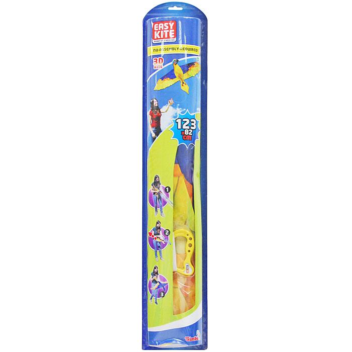 Simba Воздушный змей Easy Kite: Попугай, 123 см х 82 см7248392_попугайВоздушный 3D-змей Easy Kite: Попугай идеально подойдет для веселого времяпрепровождения на свежем воздухе. Воздушный змей - это привязной летательный аппарат тяжелее воздуха. Поддерживается в воздухе давлением ветра на поверхность, поставленную под некоторым углом к направлению движения ветра и удерживаемую леером с земли. В последнее десятилетие наблюдается всплеск интереса к игровым воздушным змеям, который доходит, наконец, и до России. Но воздушные змеи - это не только развлечение, хобби, активный отдых, это еще и замечательная развивающая игра. Воздушные змеи летают благодаря встречному потоку воздуха, или, проще говоря, ветру. Именно ветер создает подъемную силу у змея. Без ветра не взлетит ни один змей! Чем сильнее ветер, тем проще поднять воздушного змея. Для новичков советуем выбирать ветра посильнее. Для запуска змеев надо выбирать большие открытые площадки. Змея можно запускать в одиночку или вдвоем. Чтобы запустить змея в одиночку, встаньте...