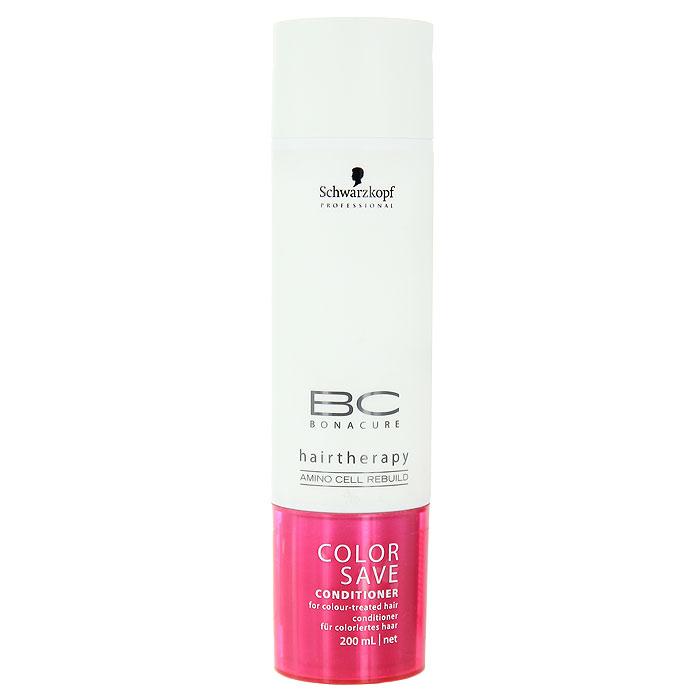 Bonacure BC Кондиционер для волос Color Save, 200 мл099-0-1801277/240023Кондиционер для волос Schwarzkopf & Henkel Color Save разглаживает и защищает кутикулярные слои волос. Кондиционер защищает окрашенные волосы от вымывания цвета. Формула также подходит для толстых и стекловидных окрашенных волос. Улучшает расчесывание. Делает поверхность способной максимально отражать естественный свет.