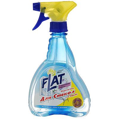 Очиститель Flat для стекол и зеркал, с ароматом лимона, 480 г4600296001710Очиститель Flat для стекол и зеркал удаляет пыль, грязь, следы от пальцев. Не оставляет разводов и придает стеклу ослепительный блеск. Подходит также для хромированных изделий. Эргономичный флакон оснащен высоконадежным курковым распылителем, дающим возможность пенообразования при распылении, позволяющим легко и экономично наносить раствор на загрязненную поверхность. Характеристики: Вес: 480 г. Производитель: Россия.