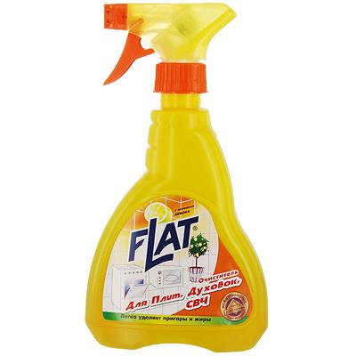 Очиститель Flat для плит, духовок, СВЧ, с ароматом лимона, 480 г4600296001772Очиститель Flat это эффективное средство для удаления нагара, подгоревшего жира, с газовых и электрических плит, духовок, микроволновых печей. С нежным с ароматом лимона. Эргономичный флакон оснащен высоконадежным курковым распылителем, дающим возможность пенообразования при распылении, позволяющим легко и экономично наносить раствор на загрязненную поверхность. Характеристики: Вес: 480 г. Производитель: Россия.