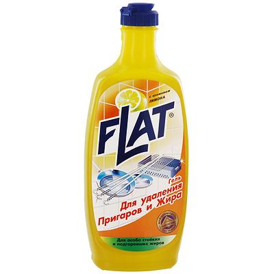 Гель для удаления пригаров и жира Flat, с ароматом лимона, 500 г4600296001796Гель Flat - высокоэффективное средство для удаления пригоревшей пищи и жира со сковород, шампуров, мангалов, противней, кастрюль, а также с плит, духовок и микроволновых печей. Гель придает посуде блеск и обновленный вид. Имеет приятный аромат лимона. Особенности геля Flat: отделяет от поверхности пригоревшую пищу и расщепляет жиры не содержит абразивных веществ не царапает очищаемую поверхность имеет густую консистенцию не требует подогрева и механических усилий. Характеристики: Вес: 500 г. Производитель: Россия.