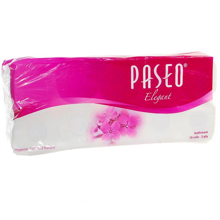 Туалетная бумага Paseo Elegant, трехслойная, 10 рулонов211412Трехслойная туалетная бумага Paseo Elegant, выполненная из натуральной целлюлозы, обеспечивает превосходный комфорт и ощущение чистоты и свежести. Она отличается необыкновенной мягкостью и прочностью. Бумага хорошо перфорирована, не расслаивается и отрывается строго по просечке. Не содержит флуоресцентных добавок, красителей и парфюмерных отдушек. Характеристики: Материал: 100% целлюлоза. Количество листов: 180 шт. Количество слоев: 3. Размер листа: 9,9 см х 11,2 см. Количество рулонов: 10 шт. Производитель: Индонезия. Артикул: 211412.
