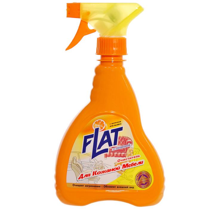 Очиститель для кожаной мебели Flat, с ароматом апельсина, 480 г4600296001765Очиститель Flat идеален для чистки кожаной мебели (в т.ч. из искусственной кожи и винила). Подходит для чистки салонов автомобилей. Прекрасно очищает загрязнения, засиженные места. Входящий в состав средства силикон придает коже блеск, обновленный вид, отталкивает пыль. Не содержит веществ, портящих кожаную поверхность.