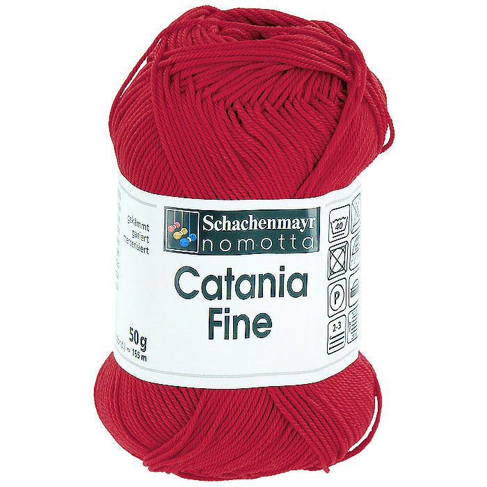 Пряжа для вязания Catania Fine, цвет: красный (01002)9807300 - 01002Пряжа для вязания Catania Fine изготовлена из высококачественного натурального мерсеризованного хлопка. Хлопок - пряжа растительного происхождения, получаемая из коробочек хлопчатника. Преимущества хлопковой пряжи: Гигиеничность. Носкость. Устойчивость к щелочам (моющим средствам). Устойчивость к истиранию и разрыву. Отлично пропускает воздух и впитывает влагу. Изделия из хлопковой пряжи легко стираются и сохраняют свой первоначальный внешний вид. Хлопковая пряжа плотная, не эластичная, ею рекомендуется вязать ажур или сплошное полотно. Пряжа Catania Fine с гладкой фактурой и привлекательным блеском отлично подойдет для создания оригинальных летних вещей. В настоящее время вязание плотно вошло в нашу жизнь, причем не столько в виде привычных свитеров, сколько в виде оригинальных, изящных моделей из самой разнообразной пряжи. Поэтому так важно подобрать именно ту пряжу, которая позволит вам...