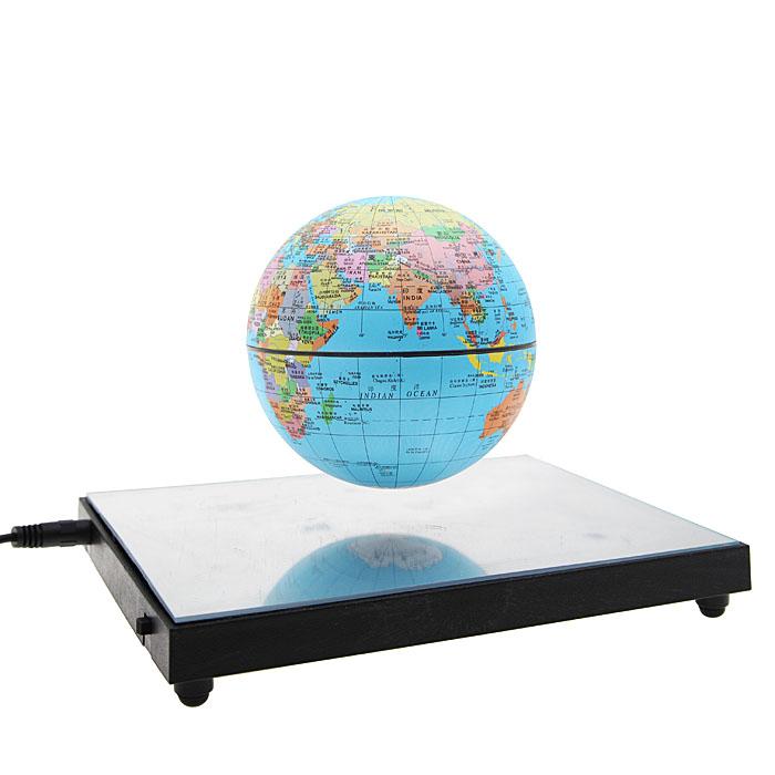 Настольный сувенир Планета с подсветкой, диаметр 10 см40649Левитационный (парящий в воздухе) электромагнитный глобус. Эффект достигается при подключении устройства в сеть с помощью магнита, закрепленного на нижней панели. Тронув глобус, можно заставить его вращаться - против часовой стрелки, также как и Земля. Включается подсветка глобуса или основания. Вы получите абсолютно волшебное впечатление, приводящее в восторг от вашей покупки! Матриалы: пластик, металлические элементы. Диаметр планеты 10 см. Не является игрушкой. Не подходит для детей младше 12 лет. С инструкцией на русском языке.