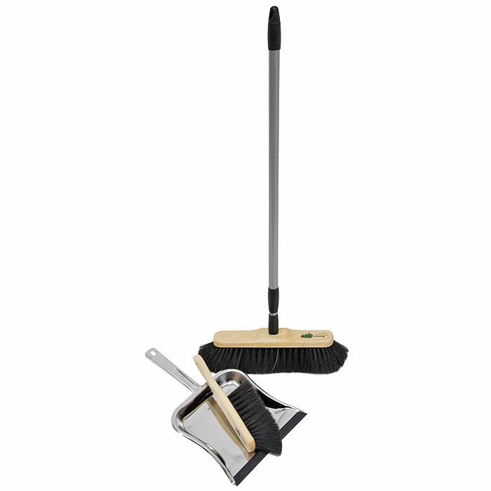 Набор для сухой уборки Rival Natur Line, 3 предмета102640Красивый, эксклюзивный набор для домашней сухой уборки Rival Natur Line состоит из швабры, совка и щетки. С помощью швабры и щетки вы легко соберете мусор со всех видов полов, не образуя пыли. Они имеют длинную мягкую щетину, которая крепится к деревянной основе. Швабра снабжена удобной телескопической ручкой, что позволит использовать ее в труднодоступных местах. Совок выполнен из высококачественного металла. Благодаря резиновой прокладке он идеально прилегает к полу, не допуская разбрасывания мусора. Торговая марка Rival нацелена на объединение таких важных составляющих продукта, как многофункциональность, привлекательный дизайн и эргономические качества. И ей это удается благодаря созданию новых технологий производства, разработке современных продуктов, качественных и простых в использовании.