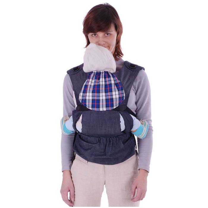 "Чудо-Чадо Слинг-рюкзак ""Бебимобиль Хип"", эргономичный, цвет: синий"