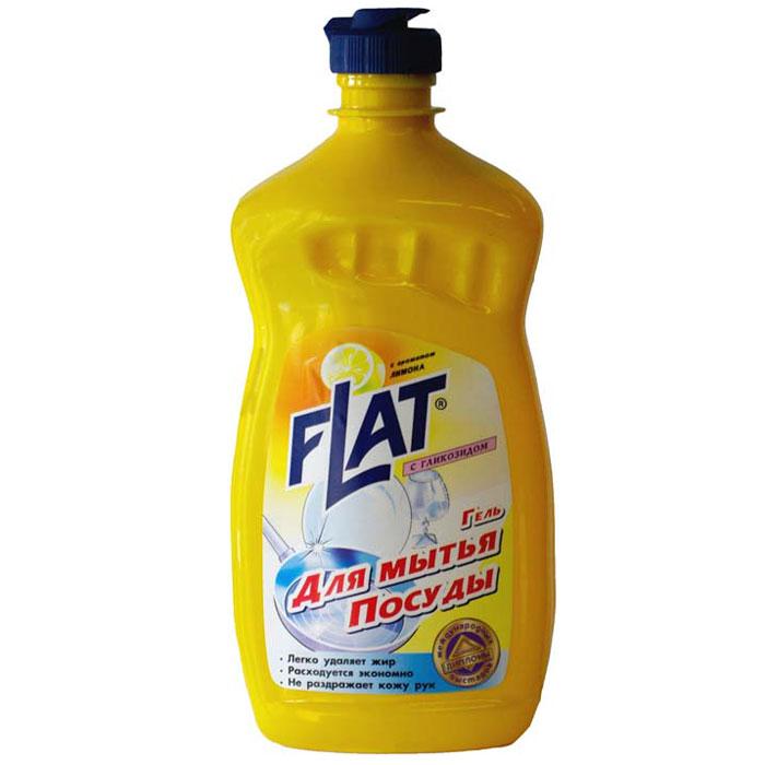 Гель для мытья посуды Flat, с гликозидом, с ароматом лимона, 500 г4600296001673Гель для мытья посуды Flat прекрасно моет посуду в воде любой жесткости и температуры. Подходит для мытья посуды из фарфора, хрусталя, стекла, тефлона, пластика, металла и другого материала, а также может использоваться для мытья кухонной мебели, кафеля и стен. Гель растворяет жиры, смывает остатки пищи, не оставляет разводов и пятен на посуде. Благодаря эффективной формуле и густой консистенции средство обеспечивает минимальный расход. Содержит гликозид, который позволяет мыть посуду, не иссушая и не раздражая кожу рук. Характеристики: Вес: 500 г. Производитель: Россия. Товар сертифицирован.