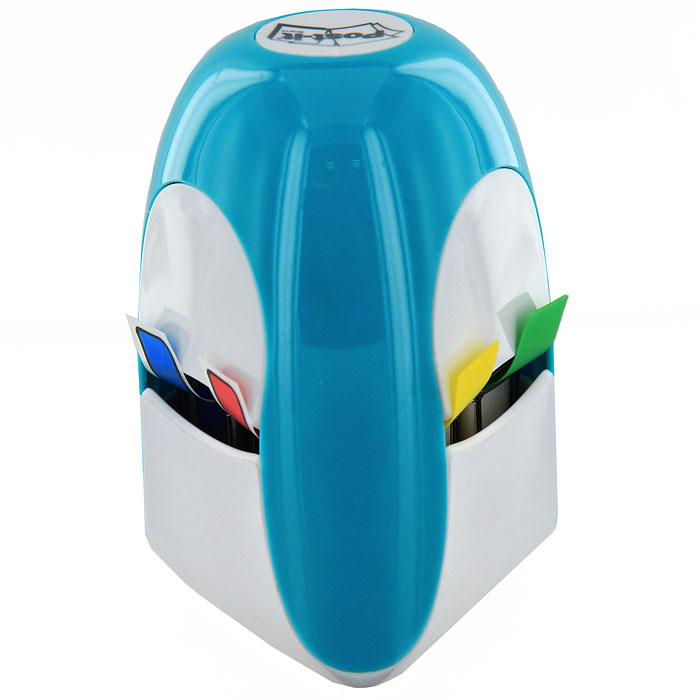 Диспенсер для закладок Post-it, с закладками, цвет: голубойC13862 (Tridex BLU)Яркий и стильный диспенсер для клейких листочков Post-it - лучший способ поднять настроение на работе! Диспенсер оснащен четырьмя отделениями для закладок шириной 1,2 см и одним отделением для закладок шириной 2,5 см. С помощью закладок вы сможете выделить или отметить нужную информацию, организовать цветное кодирование страниц или разделов. В комплект с диспенсером входят 140 узких закладок красного, синего, зеленого и желтого цветов и 50 широких закладок красного цвета. Характеристики: Материал: пластик, бумага. Ширина узкой закладки: 1,2 см. Ширина широкой закладки: 2,5 см. Размер диспенсера: 5,5 см х 5 см x 8,5 см. Размер упаковки: 8,5 см х 7 см x 9 см.