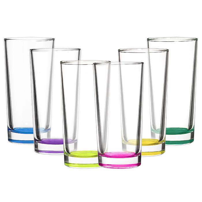 Набор стаканов Swing Лак Микс, 300 мл, 6 шт03с1018 ЛМ УНабор Лак Микс состоит из 6 высоких стаканов, изготовленных из высококачественного стекла. Они выполнены в оригинальном дизайне. Донышки стаканов декорированы разноцветным лаком, что придает им особую изысканность. Чистые цвета, плавные линии и совершенные формы предметов вызывают восхищение, а элегантный дизайн предметов набора привлечет к себе внимание и украсит интерьер. Стаканы идеально подойдут для сервировки стола и станут отличным подарком к любому празднику.