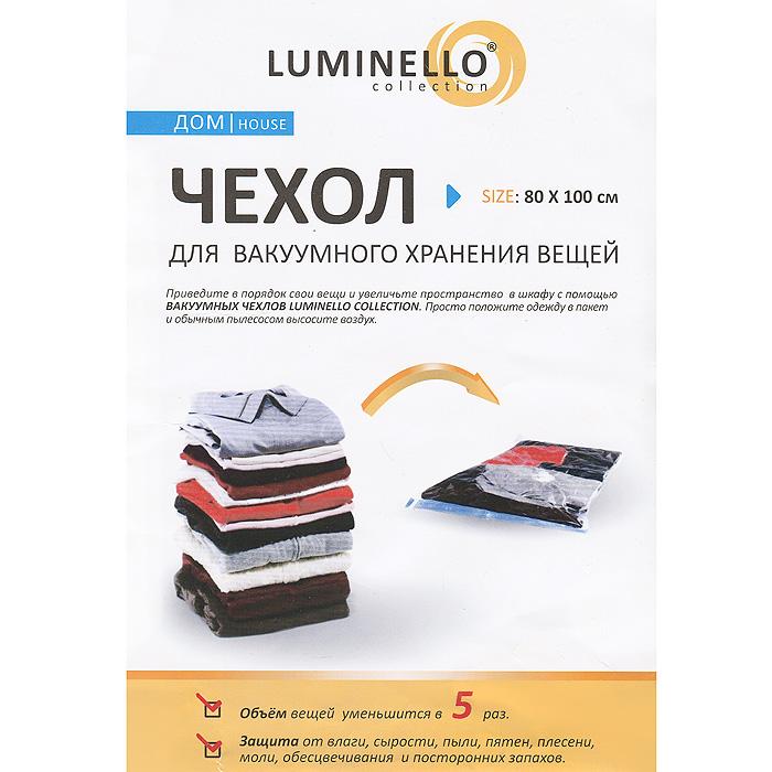 Вакуумный чехол для хранения одежды Luminello 80х100 см WH-74WH-74Вакуумный чехол Luminello изготовлен из высококачественных полимерных материалов и предназначен для долговременного хранения вещей. Вы можете привести свои вещи в порядок и увеличить пространство в шкафу с помощью этого чехла. Просто положите одежду в пакет и обычным пылесосом высосите воздух. Объем вещей уменьшится в 5 раз. Вакуумный чехол Luminello отлично защитит вашу одежду от влаги, сырости, пыли, пятен, плесени, моли, обесцвечивания и посторонних запахов, и поможет надолго сохранить ее безупречный вид. Характеристики: Материал: полиэтилен и полиамид. Размер чехла: 80 см х 100 см. Производитель: Китай. Артикул: WH-74.