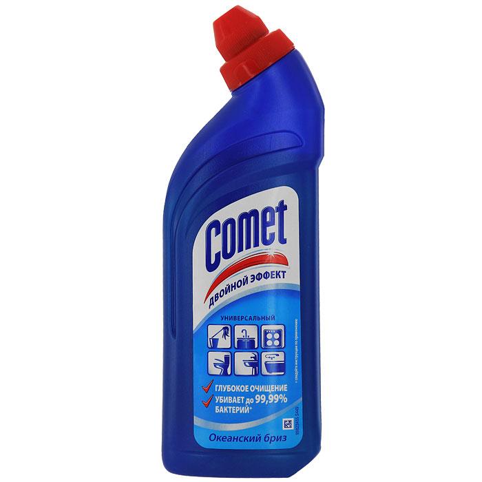Универсальный чистящий гель Comet Двойной эффект, океанский бриз, 500 млCG-81521052Чистящий гель Comet предназначен для глубокого очищения поверхностей. Эффективно удаляет повседневные загрязнения и обычный жир во всем доме, а также дезинфицирует поверхности. Средство подходит для плит (в том числе стеклокерамических), ванн, раковин, унитазов, кафеля, мытья полов. Обладает приятным ароматом.