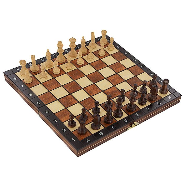 Шахматы Wegiel Магнит, размер: 27х13,5х4 см. 30113011Шахматы - это занимательный подарок и украшение интерьера. Фигуры выполнены из дерева и магнитятся к доске. Комплект фигур упакован в изысканную деревянную шкатулку. Каждая фигура надежно крепится в определенном положении благодаря особым выемкам. Крышка шкатулки представляет собой шахматную доску. Шахматы - одна из древнейших игр, изобретенная в Индии три тысячи лет назад. Она позволяла разыгрывать сражения того времени, в которых принимали участие, как простые пешие воины, так и кавалерия, и боевые слоны.