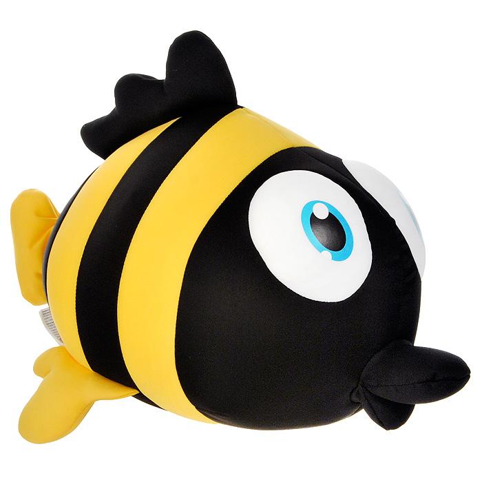 Игрушка-антистресс Рыбка Пучеглазка, 29 смMT-J121184Яркая игрушка-антистресс Рыбка Пучеглазка, выполненная в виде забавной рыбки с большими выпученными глазами, привлечет внимание каждого и станет отличным подарком. Главное достоинство игрушки - это осязательный массаж, приятный, полезный и антидепрессивный. Внешний материал - гладкий, эластичный и прочный трикотаж. Наполнитель: гранулы полистирола - крохотные шарики диаметром меньше миллиметра.