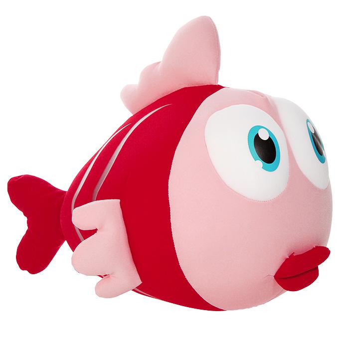 Игрушка-антистресс Рыбка Бьюти, 32 смMT-J121195Яркая игрушка-антистресс Рыбка Бьюти, выполненная в виде забавной рыбки с большими выпученными глазами, привлечет внимание каждого и станет отличным подарком. Главное достоинство игрушки - это осязательный массаж, приятный, полезный и антидепрессивный. Внешний материал - гладкий, эластичный и прочный трикотаж. Наполнитель: гранулы полистирола - крохотные шарики диаметром меньше миллиметра.