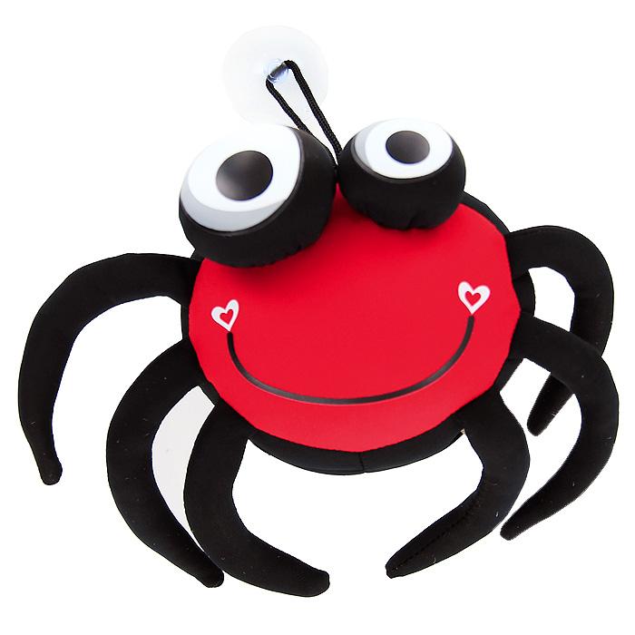 Игрушка-антистресс Паучок Спайд, 12 смMT-J121182Яркая игрушка-антистресс Паучок Спайд, выполненная в виде забавного паучка с большими выпученными глазами, привлечет внимание каждого и станет отличным подарком. На спине паучка принт в виде слова Love и двух сердечек. Главное достоинство игрушки - это осязательный массаж, приятный, полезный и антидепрессивный. Внешний материал - гладкий, эластичный и прочный трикотаж. Наполнитель: гранулы полистирола - крохотные шарики диаметром меньше миллиметра. К игрушке шнурком прикреплена присоска.