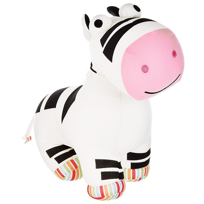 Игрушка-антистресс Зебра Майк, 35 смMT-H121169Яркая игрушка-антистресс Зебра Майк, выполненная в виде полосатой зебры с выпученными глазами, привлечет внимание каждого и станет отличным подарком. Главное достоинство игрушки - это осязательный массаж, приятный, полезный и антидепрессивный. Внешний материал - гладкий, эластичный и прочный трикотаж. Наполнитель: гранулы полистирола - крохотные шарики диаметром меньше миллиметра.