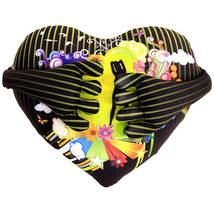 Подушка-антистресс Сердце с ручками, 28 смMT-D121162Подушка-антистресс Сердце с ручками, выполненная в виде полосатого сердечка с ярким рисунком и ручками, привлечет внимание каждого и станет отличным подарком. Сзади на голове имеется змейка. Главное достоинство подушки - это осязательный массаж, приятный, полезный и антидепрессивный. Внешний материал - гладкий, эластичный и прочный трикотаж. Наполнитель: гранулы полистирола - крохотные шарики диаметром меньше миллиметра.
