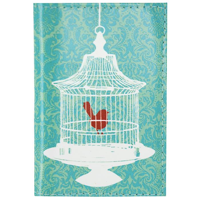 Визитница Птичка в клетке. VIZIT-060
