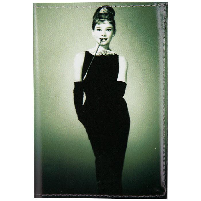 Визитница Одри в черном платье. VIZIT-022