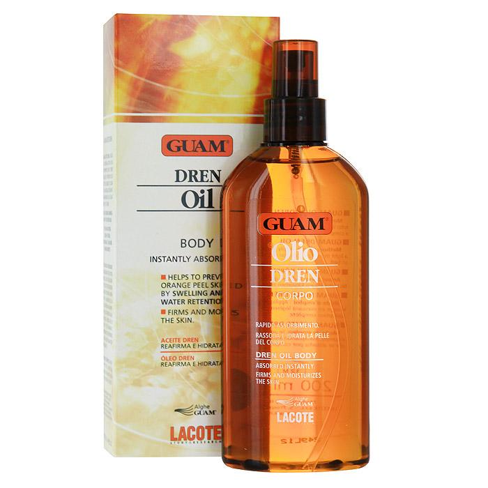"""Масло против отеков Guam """"Dren"""", для массажа, 200 мл 1994"""