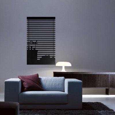 Стикер Paristic Ноктюрн № 1, цвет: черный, 43 х 26 см44064Стикер Paristic Ноктюрн - это уникальная возможность создать неповторимый индивидуальный облик интерьера вашего дома. Стикер, изображающий окно, закрытое жалюзи, за которым виднеются силуэты домов, выполнен из матового винила - тонкого эластичного материала, который хорошо прилегает к любым гладким и чистым поверхностям, легко моется и держится до семи лет, при снятии не оставляет следов. Такой оригинальный элемент декора придаст интерьеру креативность и новое настроение и станет великолепным украшением, притягивающим заинтересованные взгляды окружающих. В комплекте со стикером предусмотрена подробная инструкция по наклеиванию (на русском языке).