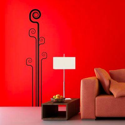 Стикер Paristic Цветок № 5, цвет: черный, 26 х 117 см300129Стикер Paristic Цветок - это уникальная возможность создать неповторимый индивидуальный облик интерьера вашего дома. Стикер, изображающий абстракную композицию из изогнутых линий, выполнен из матового винила - тонкого эластичного материала, который хорошо прилегает к любым гладким и чистым поверхностям, легко моется и держится до семи лет, при снятии не оставлет следов. Такой оригинальный элемент декора придаст интерьеру креативность и новое настроение и станет великолепным украшением, притягивающим заинтересованные взгляды окружающих. В комплекте со стикером предусмотрена подробная инструкция по наклеиванию (на русском языке).