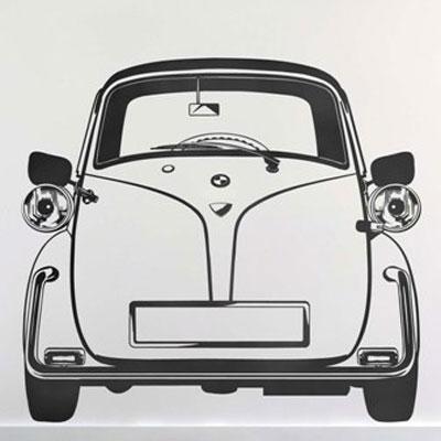 Стикер Paristic Изетта, цвет: черный, 72 х 80 см701Стикер Paristic Изетта - это уникальная возможность создать неповторимый индивидуальный облик интерьера вашего дома. Стикер с изображением силуэта старинного автомобиля в анфас выполнен из матового винила - тонкого эластичного материала, который хорошо прилегает к любым гладким и чистым поверхностям, легко моется и держится до семи лет, при снятии не оставлет следов. Такой оригинальный элемент декора придаст интерьеру креативность и новое настроение и станет великолепным украшением, притягивающим заинтересованные взгляды окружающих. В комплекте со стикером предусмотрена подробная инструкция по наклеиванию (на русском языке).