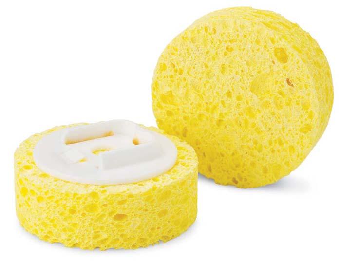 Губка Libman сменная, 2 шт. 0104601046СменныСменная губка Libman круглой формы выполнена из целлюлозы. Губка прекрасно очищает сильные загрязнения, не царапая поверхность. В комплекте 2 губки.