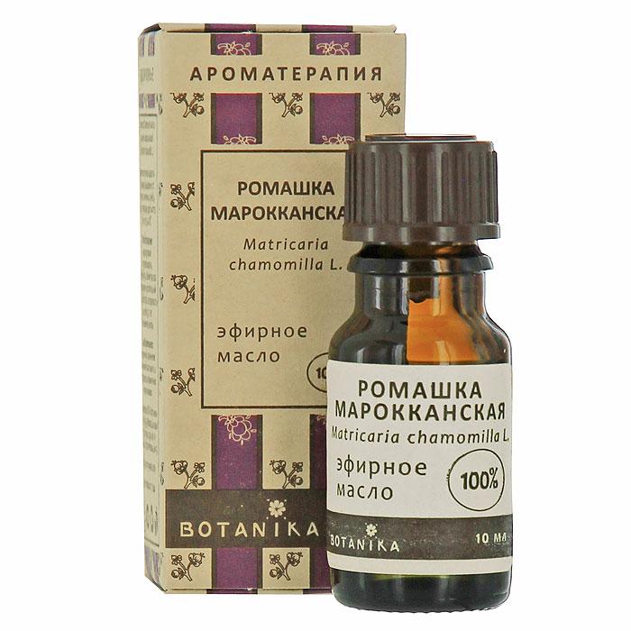 Эфирное масло Botanika Ромашка марокканская, 10 мл00007607Масло ромашки обладает сильным седативным действием: снимает тревогу, беспокойство, напряжение, ослабляет гнев и страх. Способствует релаксации, умиротворяет. Дает отдых уму, часто помогает при бессоннице. Ослабляет ноющую мышечную боль, особенно вызванную нервным напряжением. Эффективно против болей в пояснице. Также помогает при головной боли, невралгии, зубной и ушной боли. Позволяет успешно справляться с нарушениями менструального цикла, в том числе ослаблять боли.