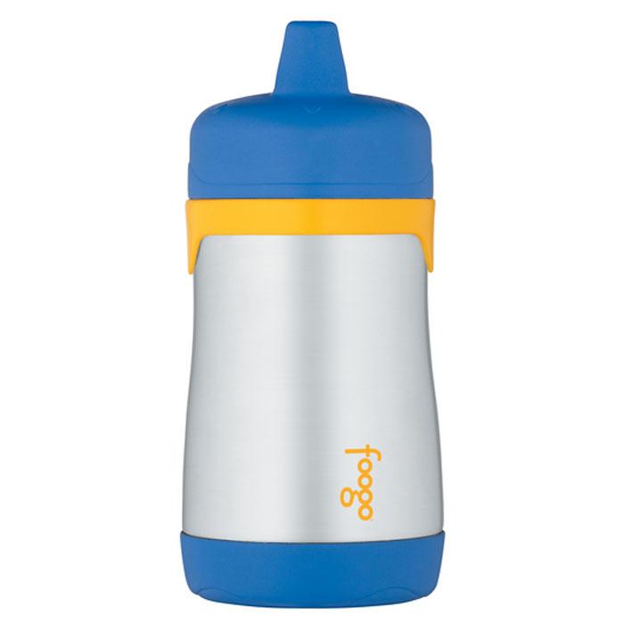 Термос-поильник Phases Foogo с твердым носиком, цвет: синий, желтый, 290 мл