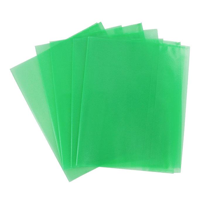 """Обложка для тетрадей """"Panta Plast"""", формат А5, цвет: зеленый, 5 шт 05-0075-5"""