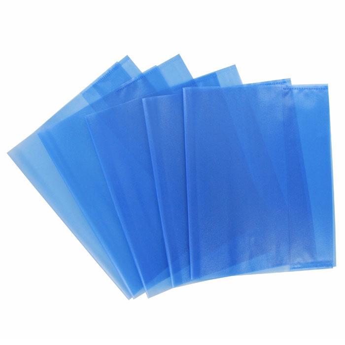"""Обложка для тетрадей """"Panta Plast"""", формат А5, цвет: голубой, 5 шт 05-0075-3"""