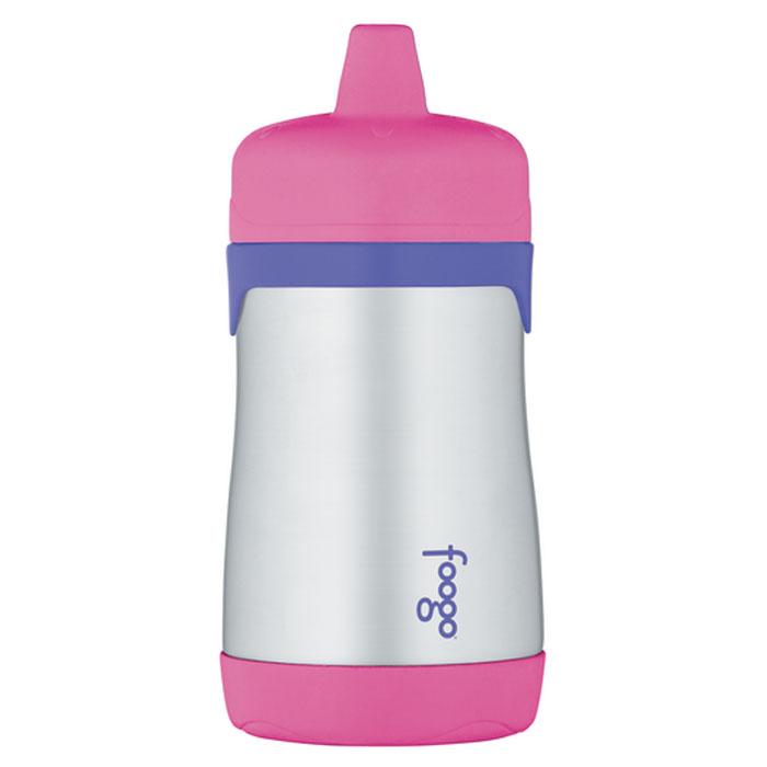 Термос-поильник Phases Foogo с твердым носиком, цвет: розовый, сиреневый, 290 мл