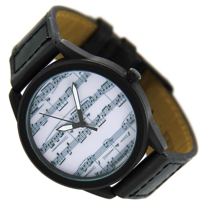 Часы Mitya Veselkov Ноты. MVBlack-04MVBlack-04Наручные часы Mitya Veselkov Ноты созданы для современных людей. Часы оснащены японским кварцевым механизмом. Ремешок выполнен из натуральной кожи черного цвета, корпус изготовлен из стали серебристого цвета. Циферблат оформлен изображением нот на белом фоне.