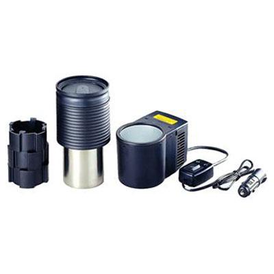 Термоэлектрическое устройство охлаждения и подогрева Ezetil ColdKing CanCooler Set 12V2809282Термоэлектрическое устройство охлаждения и подогрева Ezetil ColdKing CanCooler Set 12V. Устанавливается в любом удобном месте автомобиля. С его помощью можно охладить баночку напитка емкостью 0,33 л. или нагреть металлическую емкость объемом 0,5 л (в комплекте). Вы можете подключить этот набор к источнику питания 12 Вольт в вашем автомобиле. Налейте в металлическую емкость примерно 0,3 литра чистой воды и установите емкость в нагреватель. Через 30 минут вода станет горячей. Добавьте пакетик чая или ложку растворимого кофе. Горячий напиток в дороге! Стакан снабжен защитным резиновым кольцом, чтобы не обжечься, и, клапаном на крышке - чтобы не пролить горячую воду на колени. Время охлаждения баночки 0,33 л примерно 30 минут. Особенности модели: Режим охлаждения и режим подогрева; Работает от бортовой сети 12 В; Простая и быстрая установка. Характеристики: Размер устройства: 20 см х 12 см х 8 см. Вес устройства: 1 кг. Напряжение: 9-15 В. ...