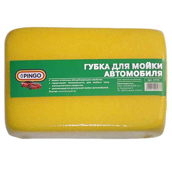 Губка Pingo для мойки автомобиля5776Губка Pingo, предназначенная для ручной мойки автомобиля, обладает отличными абсорбирующими свойствами и гарантирует безопасность для любого типа лакокрасочных покрытий. Характеристики: Материал: пенополиуретан. Размер губки: 17 см х 11 см х 5,5 см. Комплектация: 1 шт. Производитель: Польша. Артикул: 5776.