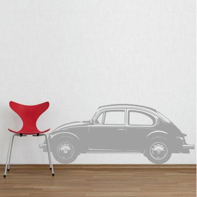 Стикер Paristic Автомобиль Жук, цвет: черный, 17 х 43 см300187Стикер Paristic Автомобиль Жук выполнен из матового винила - тонкого эластичного материала, который хорошо прилегает к любым гладким и чистым поверхностям, легко моется и держится до семи лет, не оставляя следов. Добавьте оригинальность вашему интерьеру с помощью необычного стикера Автомобиль Жук. Изображение на стикере выполнено в виде силуэта старинного автомобиля Volkswagen в профиль. Необыкновенный всплеск эмоций в дизайнерском решении создаст утонченную и изысканную атмосферу не только спальни, гостиной или детской комнаты, но и даже офиса. Сегодня виниловые наклейки пользуются большой популярностью среди декораторов по всему миру, а на российском рынке товаров для декорирования интерьеров - являются новинкой.
