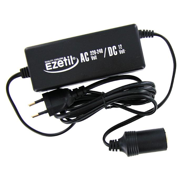 Адаптер сети переменного тока Ezetil для подключения автомобильных холодильников879920Адаптер сети переменного тока Ezetil предназначен для подключения 12-ти вольтовых портативных холодильников к сети 220-240 В.